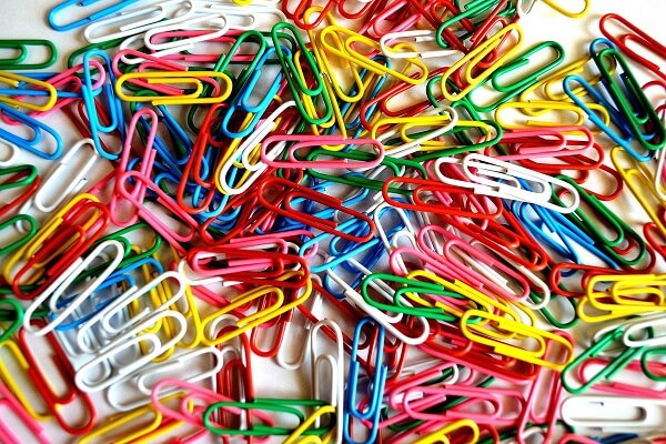 Paper Clips Colorful