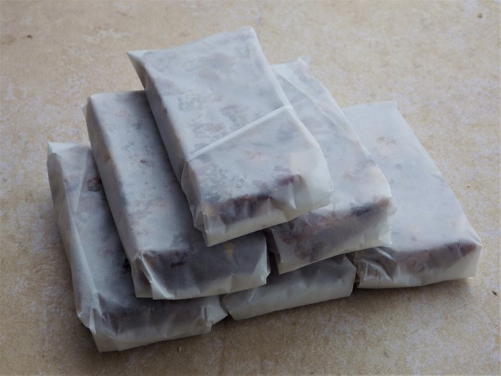 Pemmican Wrapped and Stacked