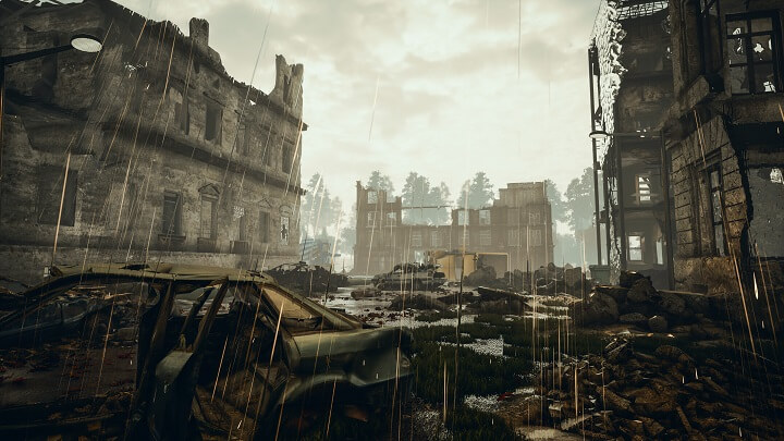 Ruins of City After Apocalypse