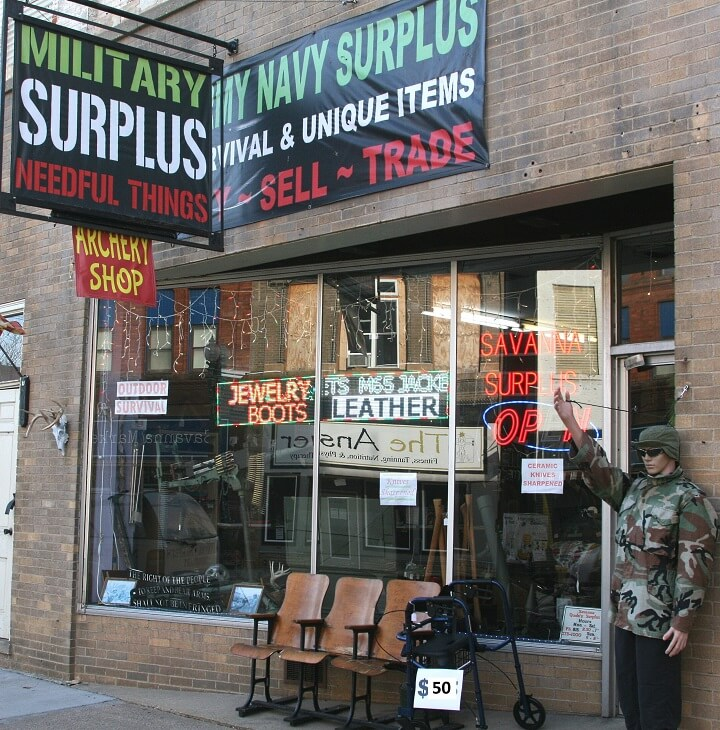 Savanna Military Surplus Storefront