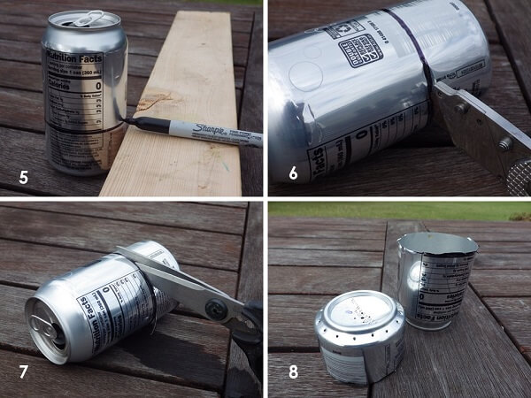 Soda Can Jet Burner Marking And Cutting The Cans