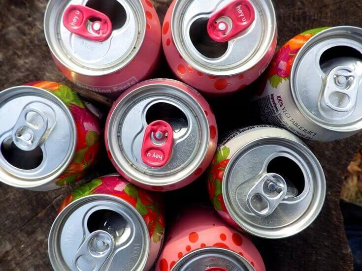 Soda Cans From Above