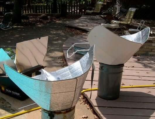 Solar Cooker from Car Sunshade