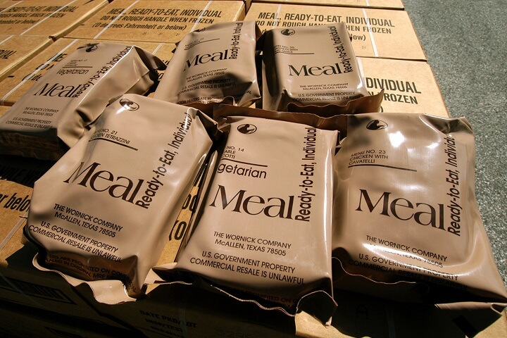 Stack of MREs