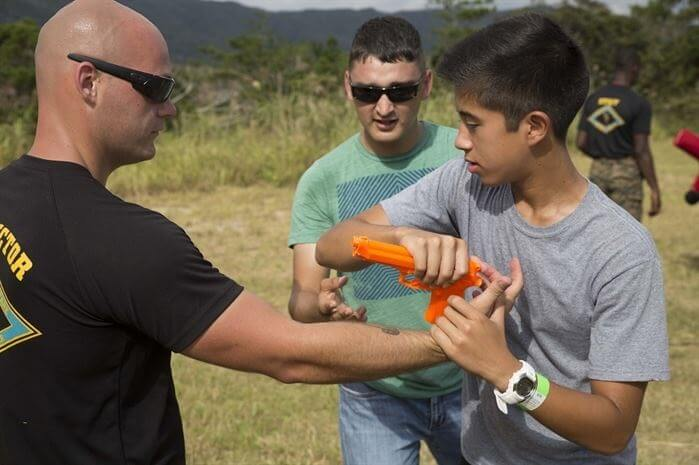 Student Practicing a Disarm 1