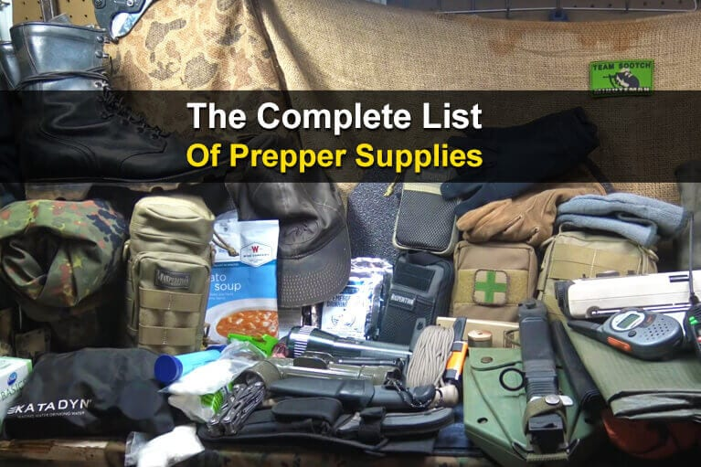 The Complete List Of Prepper Supplies