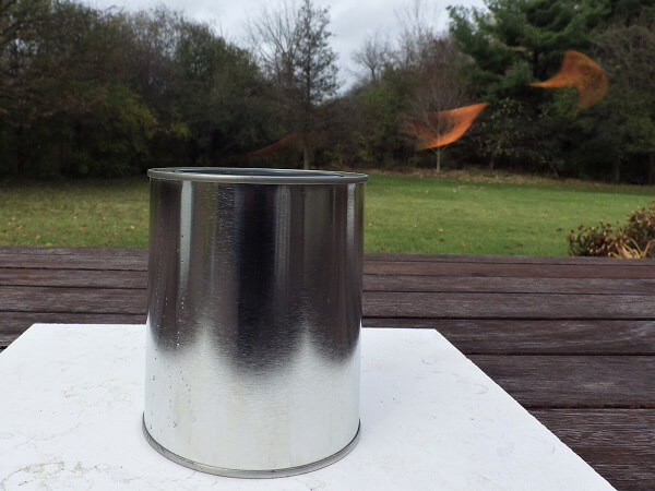 Tin Can Heater Almost Invisible Flame In Bright Light
