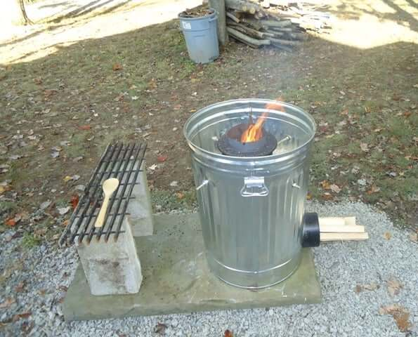 Trash Can Rocket Stove