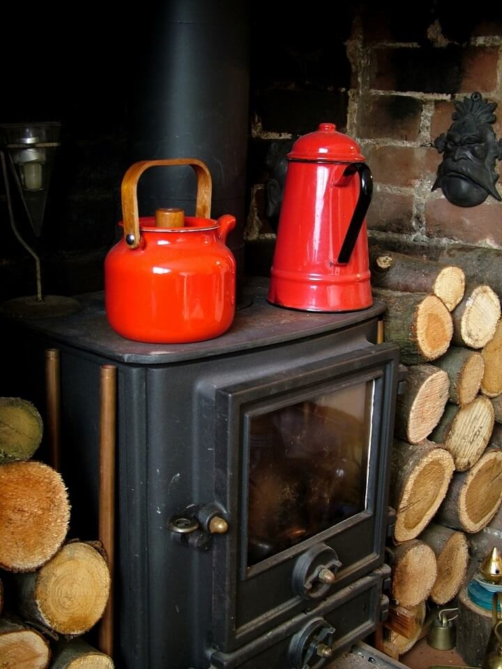 Wood Stove with Coffee Pot