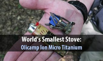 World's Smallest Stove: Olicamp Ion Micro Titanium